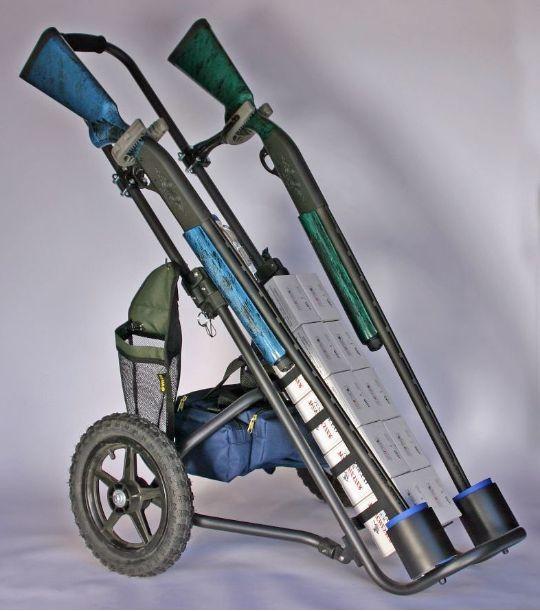 Starscart.com - Shotgun Carts for the Serious Sporting Clays, Trap on shotgun gun carts, used sporting clays carts, stroller shooting carts,